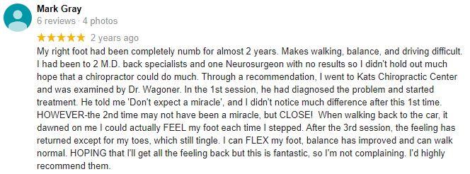 Chiropractic Broken Arrow OK Patient Testimonial at Kats Chiropractic Center